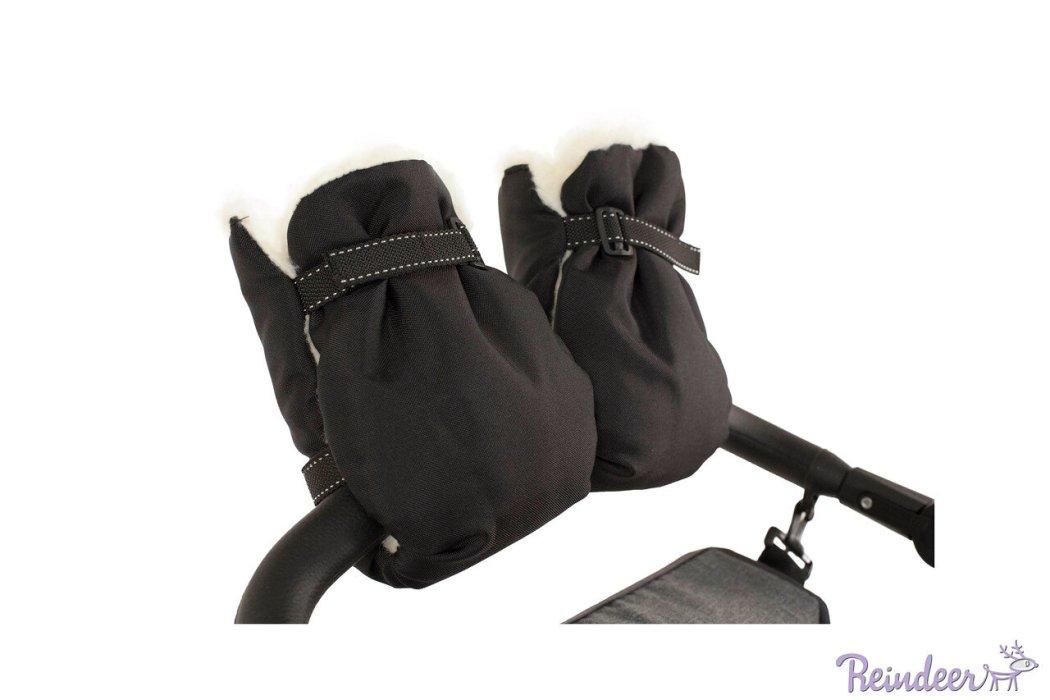 Меховая муфта для рук для детских колясок Reindeer (Черный)