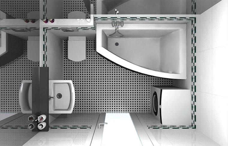 ванная комната дизайн фото для маленькой 1