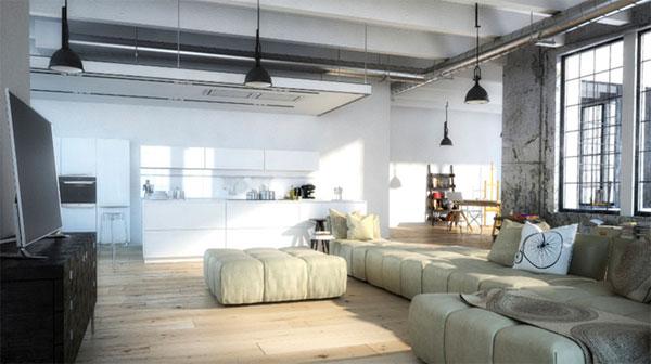 Дом в стиле лофт концентрация свободы и креативные идеи