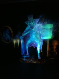 The Hatbox Ghost in the Preshow Video