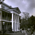 Here is an early photo of the Haunted Mansion probably from its opening year in 1969.
