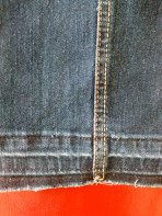 "For the jeans that are ankle flappers, take down the hem. This pair gained a healthy 1.5"" in length and it looks good."