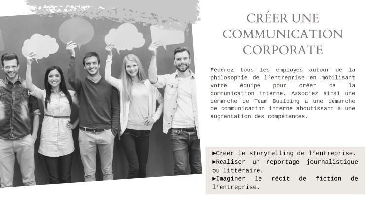 Communication Corporate - créer