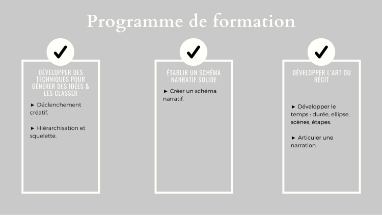 L'art de la narration par le storytelling - Programme