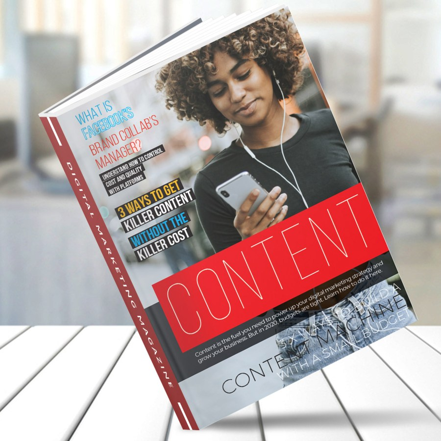 Cover of Volume 3 of Digital Marketing Magazine titled how to Create Killer Content without the Killer Cost