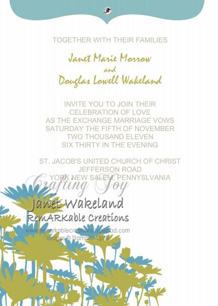 Digital Wedding Invites made with My Digital Studio