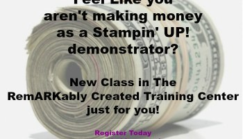 Is it possible to make money as a Stampin'UP! demonstrator