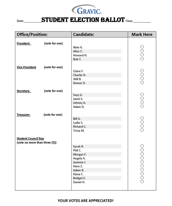 Student Election Ballot Remark Software