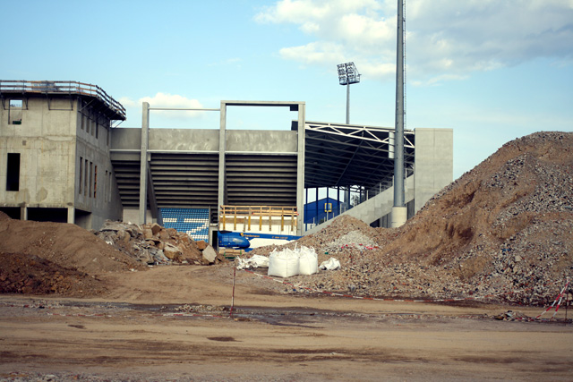 Investiert wird dafür aber in die Blüte des neuen Fußballstadions.
