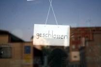 Genereller Zustand der meisten Ladengeschäfte auf dem Sonnenberg.