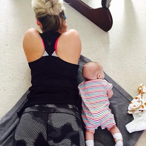 Kimberly Wyatt fitness pregnancy