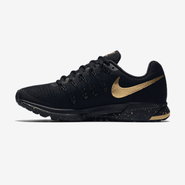 Nike Air Zoom Pegasus 33 Women's Running Shoe 'Black and Gold'