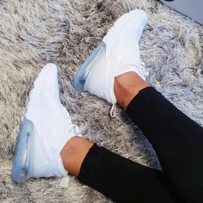 Nike Air Max 270 Triple White Cool Style