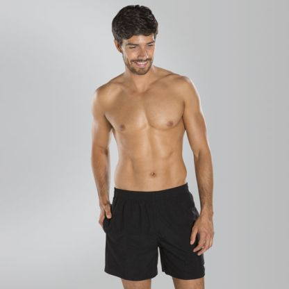 Speedo Solid Leisure 16 Swim Shorts - Black