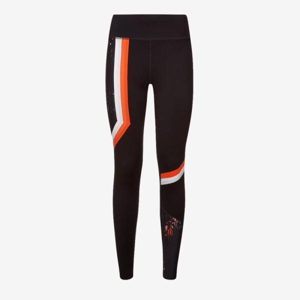 Sweaty Betty Zero Gravity Run Leggings - Black White Orange