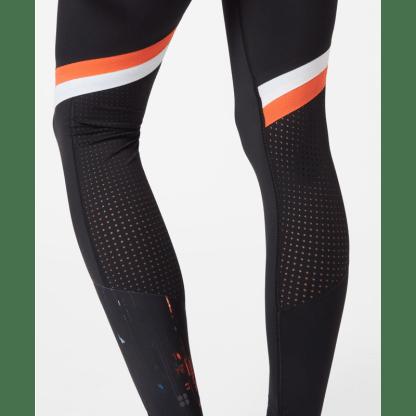 Sweaty Betty Zero Gravity Run Leggings - Black White Orange - Detail