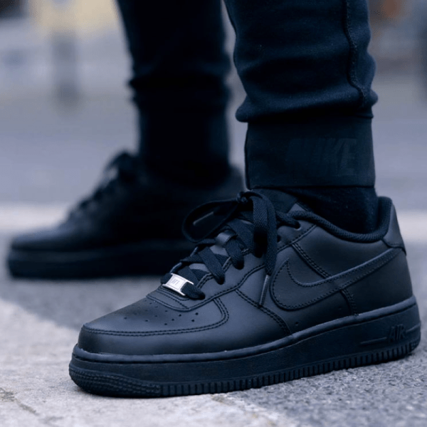 all black Nike Air Force 1 '07 Shoes