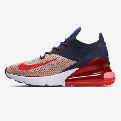 Nike Air Max 270 Flyknit Blue White Red Rematch
