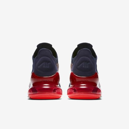 Nike Air Max 270 Flyknit - Blue White Red - heels