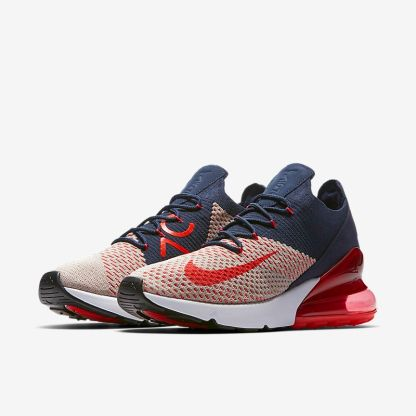 timeless design 1fa6f b5379 Nike-Air-Max-270-Flyknit-Blue-White-Red-