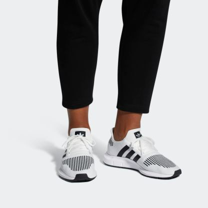 adidas Originals Swift Run Shoes - White Black - Pair