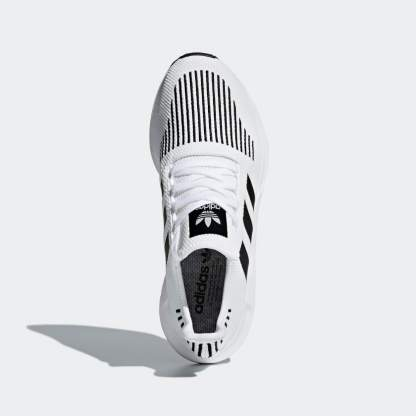 adidas Originals Swift Run Shoes - White Black - Above