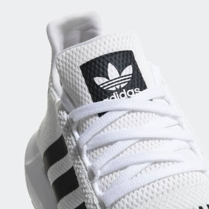 adidas Originals Swift Run Shoes - White Black - Detail