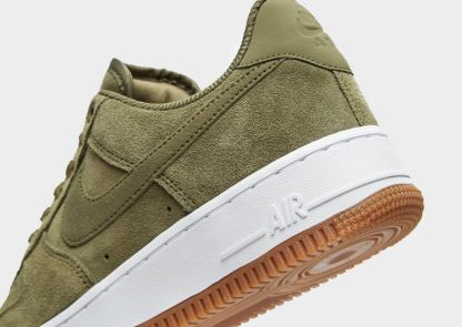 Nike Air Force 1 07 Suede Trainers - Khaki 3
