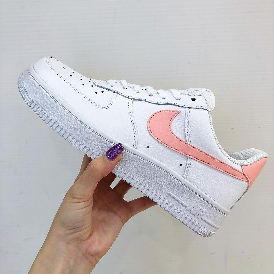 Nike AF1 Air Force 1 women's shoes gray pink NWT
