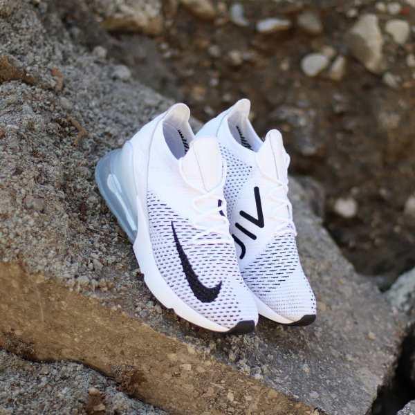 Nike Air Max 270 Flyknit White Platinum