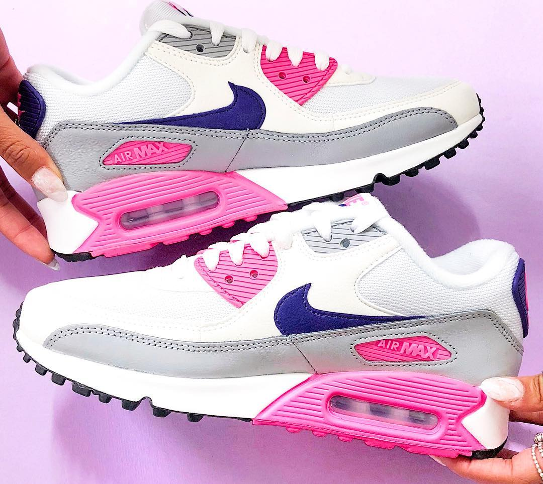 Nike Air Max 90 White Purple Grey Pink Rematch