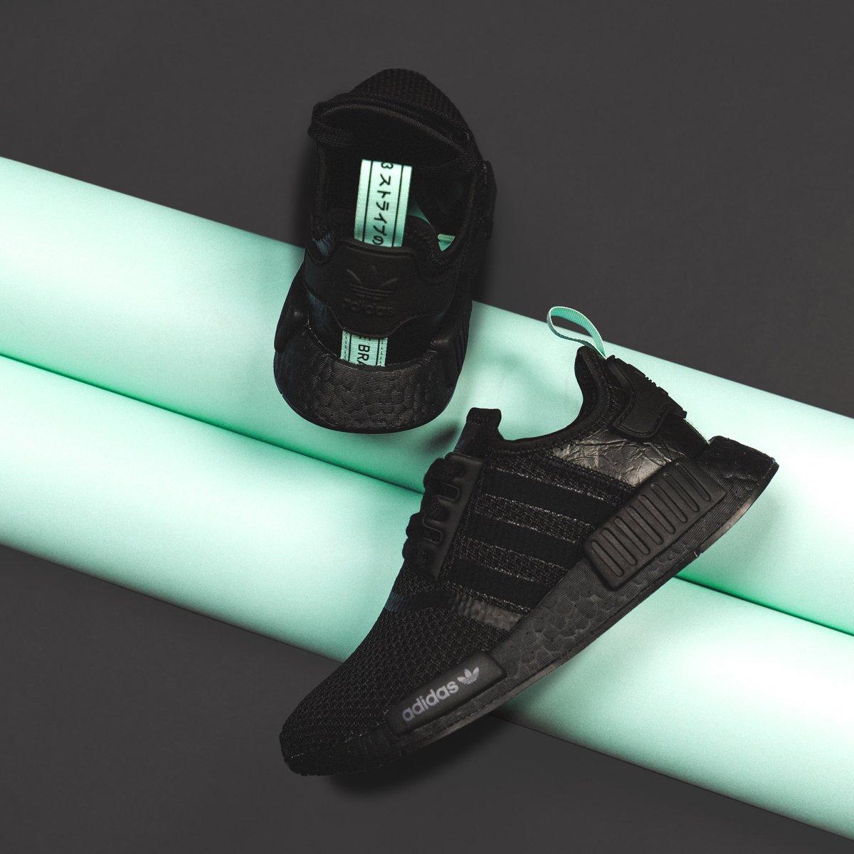 adidas NMD R1 Black Mint - AQ1102
