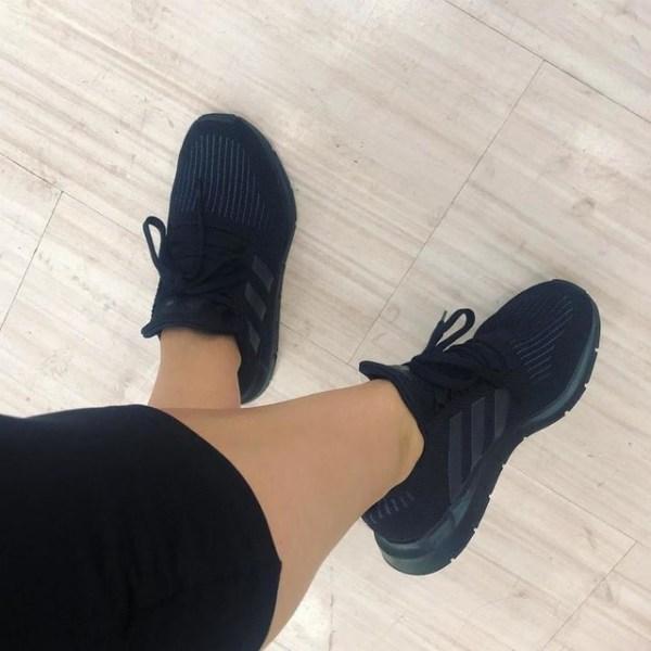 adidas Originals Swift Run Shoes – Black - on feet