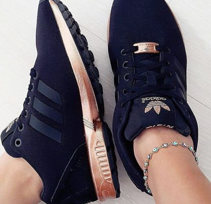adidas ZX Flux Trainers – Black and Copper (Gold) 8