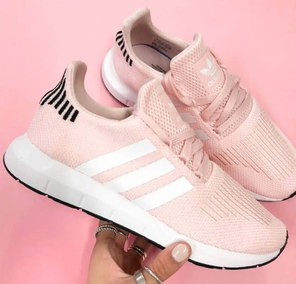 adidas Swift Run Shoes - Icey Pink 8