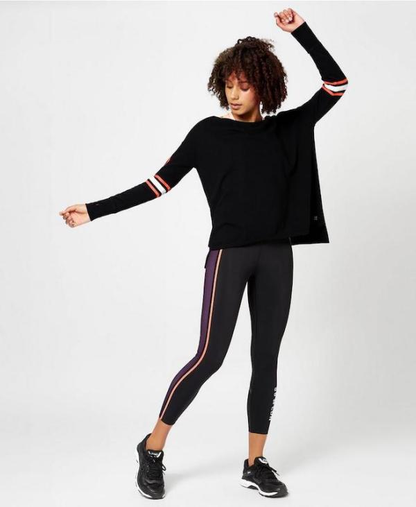 Sweaty Betty - Simhasana Slogan Sweatshirt - Black Cotton - style