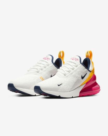Nike Air Max 270 Premium - White Blue Yellow Fuchsia - Shoes