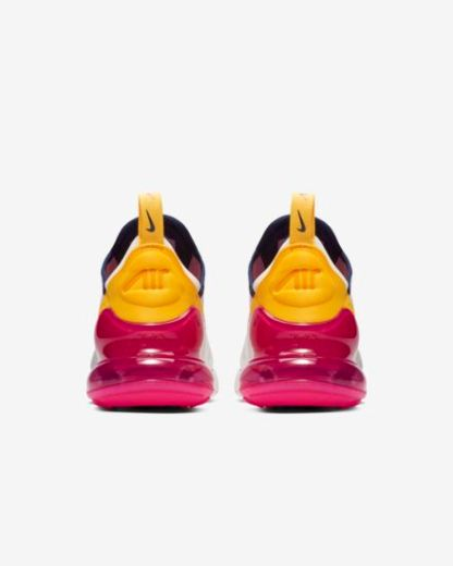 Nike Air Max 270 Premium - White Blue Yellow Fuchsia - Heels