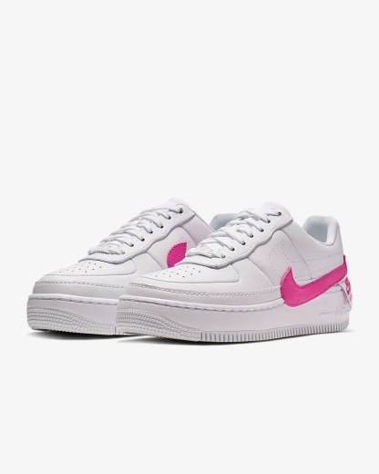 Nike Air Force 1 Jester XX Shoe - Pink White - pair sneakers