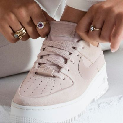 Nike Air Force 1 Sage Low - Beige - Shoes 2019 - details style