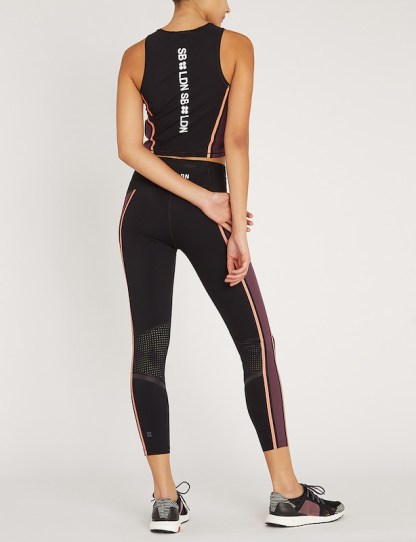 Sweaty Betty - Homestraight Run stretch jersey crop top - back view