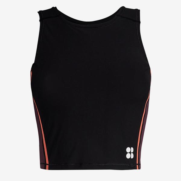 Sweaty Betty - Homestraight Run stretch jersey crop top