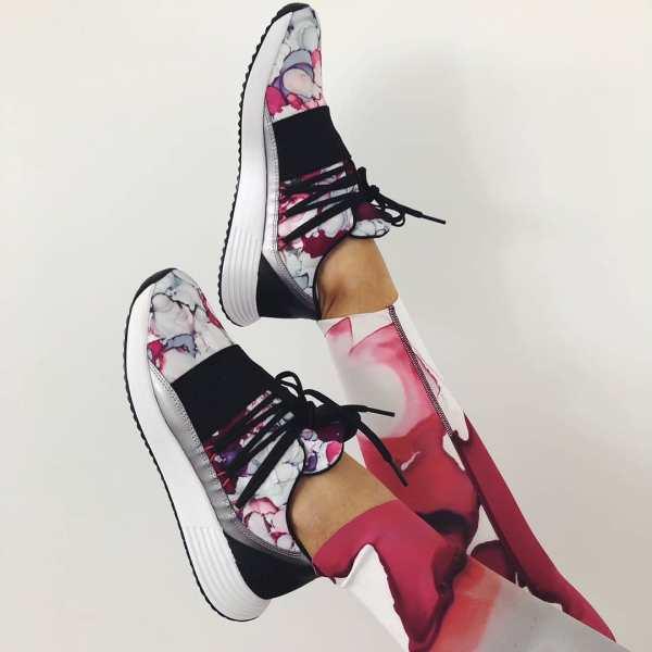 Under Armour Breathe Lace + Sportstyle Shoes - Black Purple Pink - stylish woman leggings