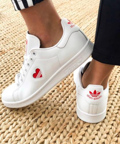 adidas Stan Smith Red Heart Valentine's Day Shoes - cool