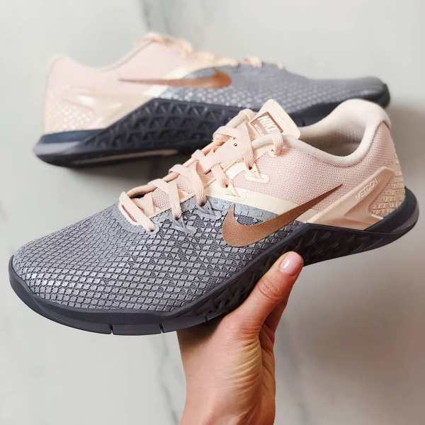 Nike Metcon 4 XD Metallic Shoes - Grey Pink - CrossFit