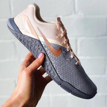 Pink Grey Nike Metcon 4 XD Metallic Shoes