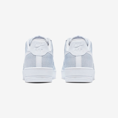 Nike Air Force 1 Flyknit 2.0 - white shoes - heels