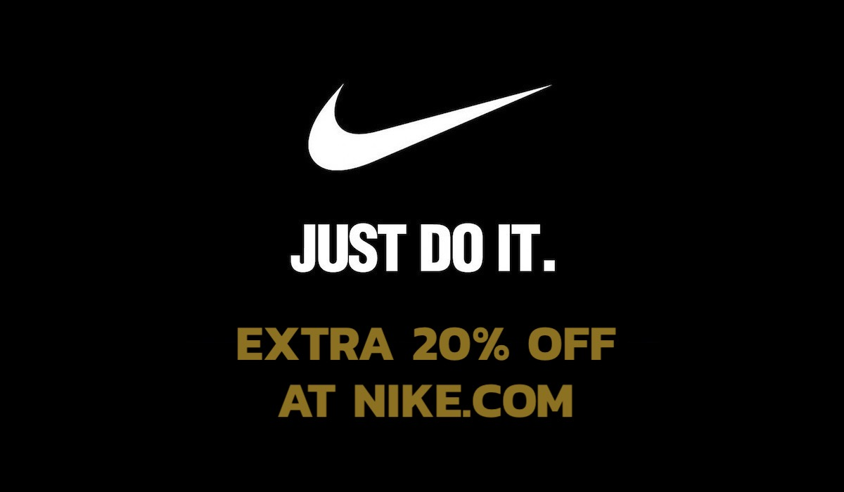 Nike Extra 20 Off at Nike.com Banner