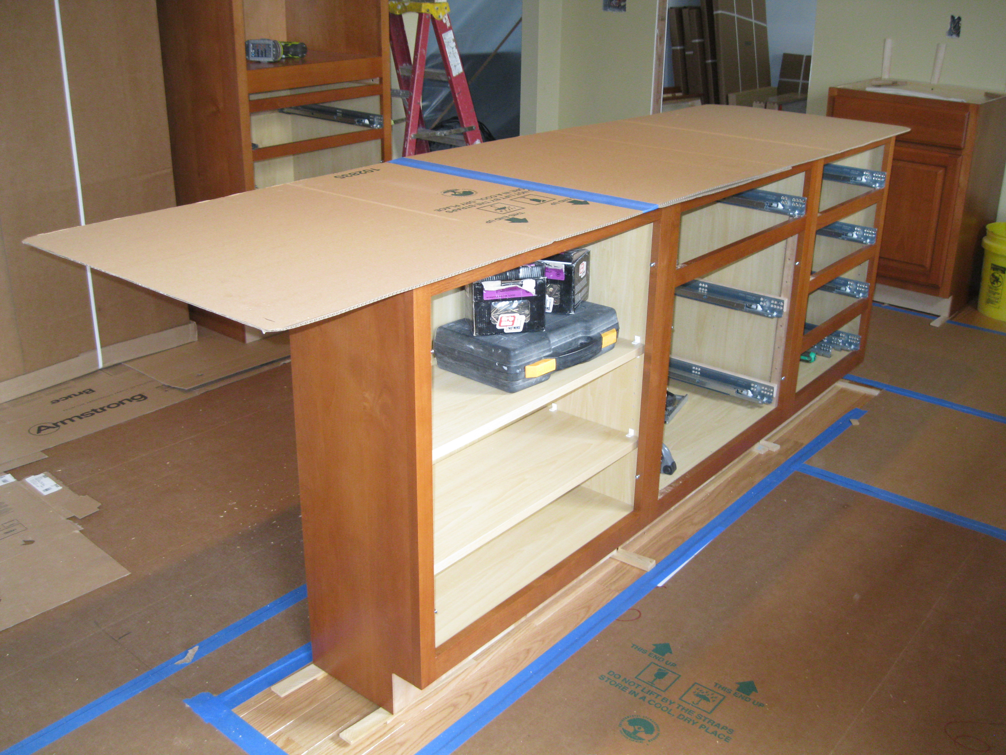 how to build a kitchen island with cabinets moen vestige faucet free plans base diy make