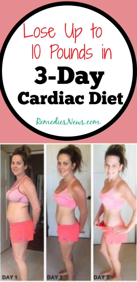 3-Day Cardiac Diet:-Lose 10 Pounds in 3 Days with Heart Healthy Foods